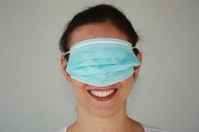 Masque avec sourire